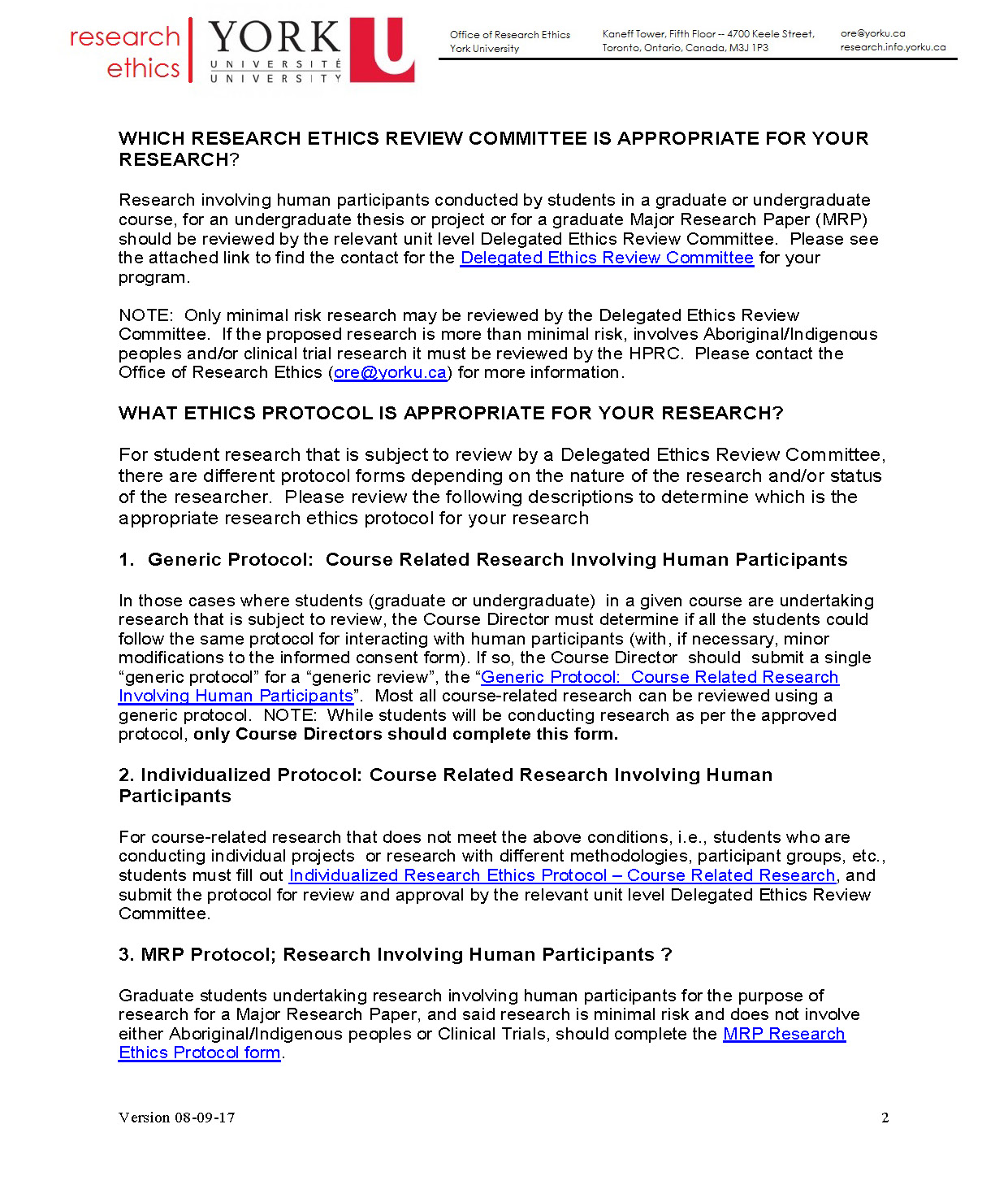full-size image of the ethics review requirements for course related reserach page 2