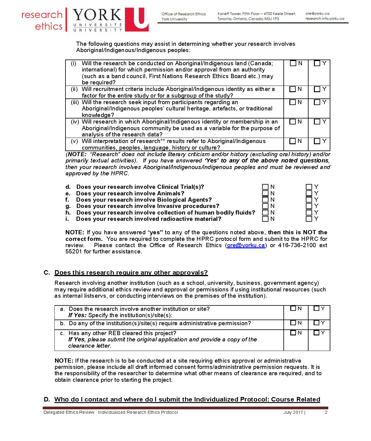 full-size image of the individualized protocol from research ethics page 2