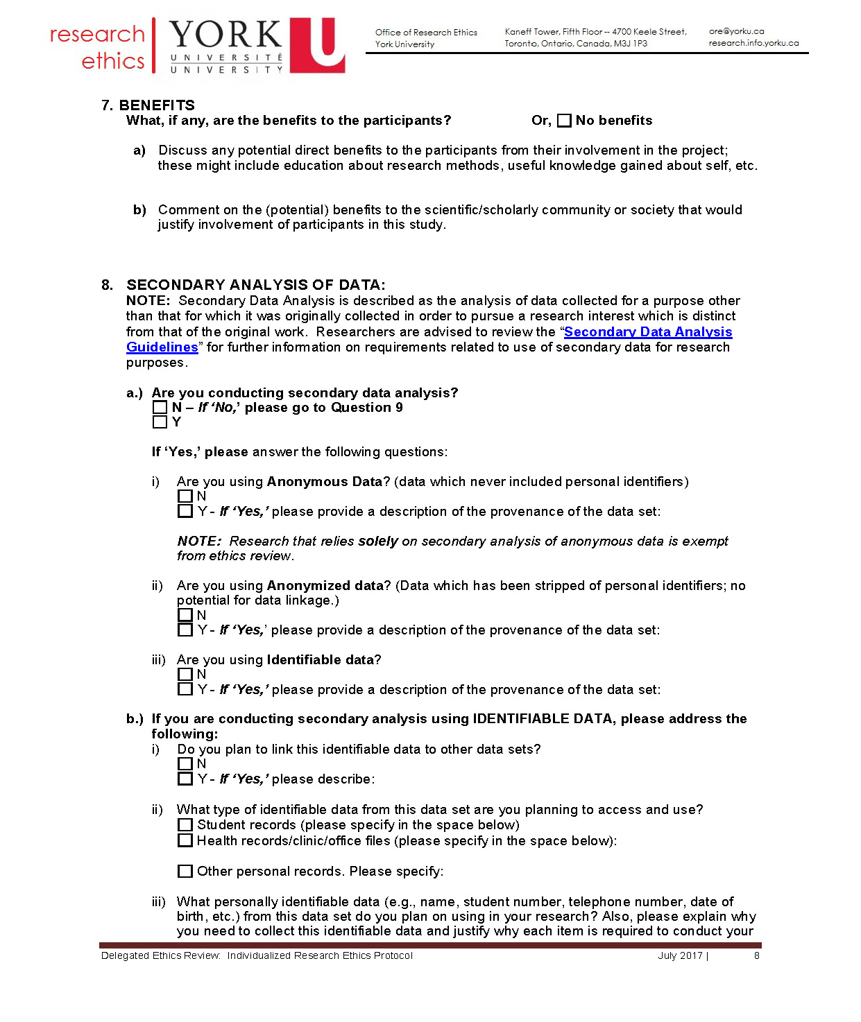 full-size image of the individualized protocol from research ethics page 8