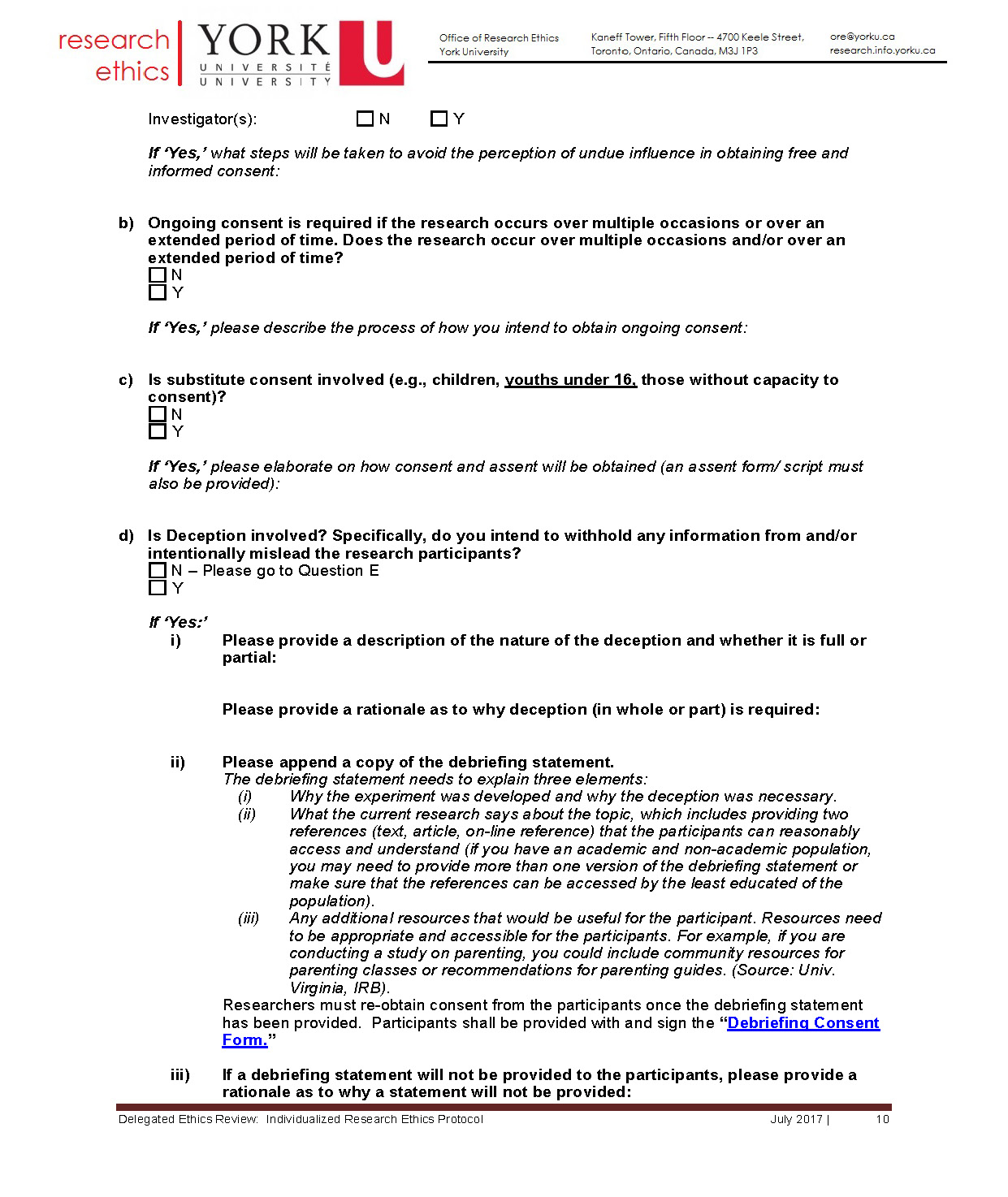 full-size image of the individualized protocol from research ethics page 10