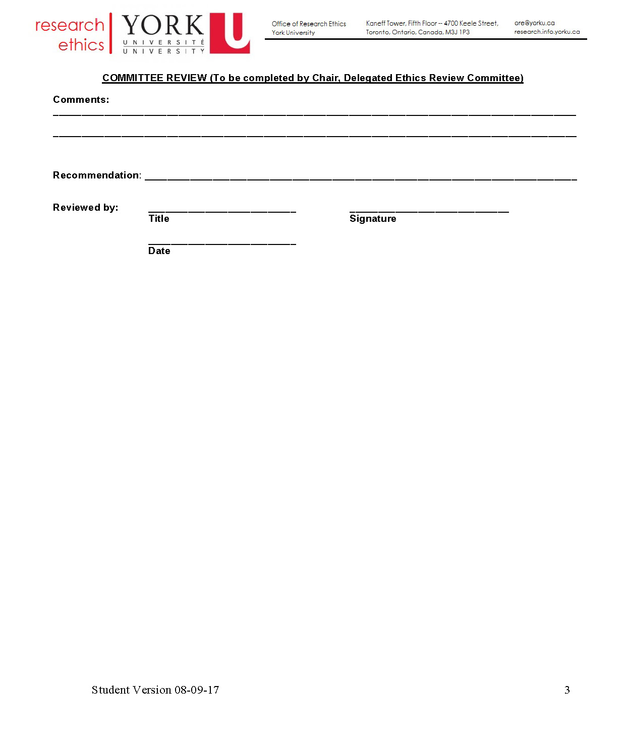 full-size image of the request for renewal of ethic approval form from research ethics page 3